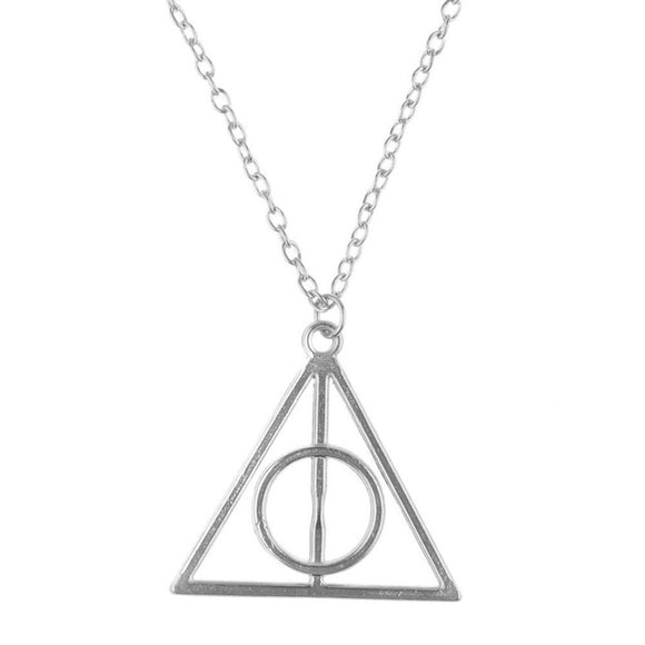 Harry Potter Deathly Hallows Geometric Pendant Necklace-Kook Store-Kook Store
