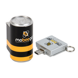 Mobeego™ Single Shot Micro USB Features One Reuseable Adapter and One Single-Shot Replaceable Battery