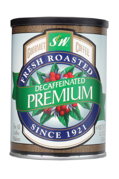 S&W Premium Blend Decaf (12/11.5oz case)