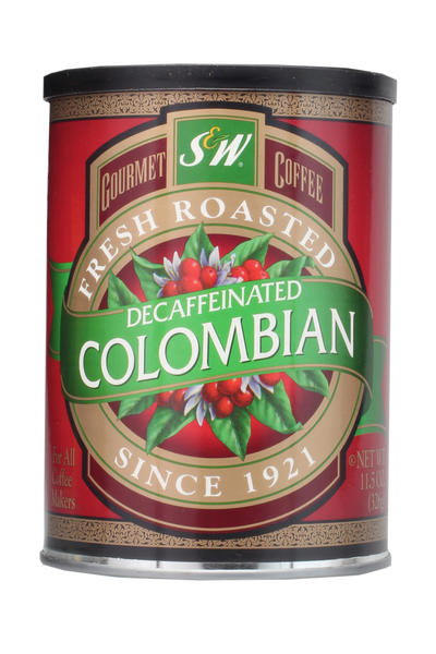 S&W Colombian Decaffeinated Coffee (12/11.5oz Case)