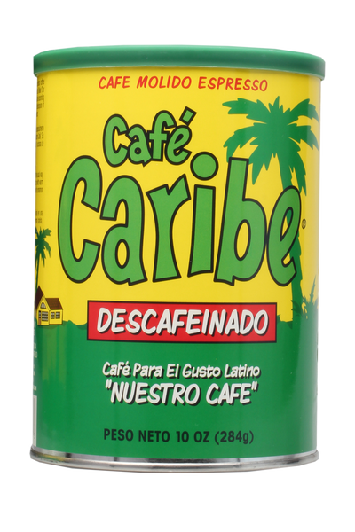 Cafe Caribe Decaffeinated Espresso Coffee Can Case of 12