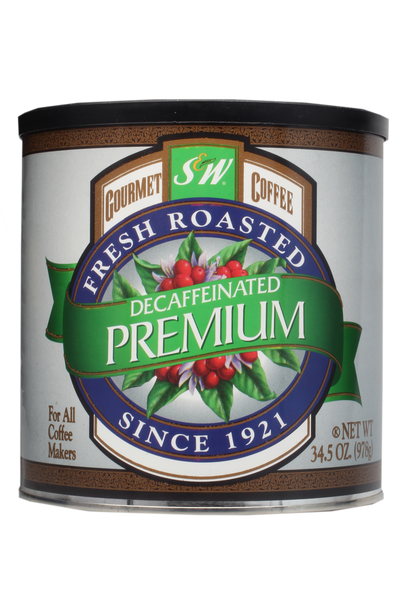 S&W Premium Blend Decaffeinated Coffee (6/34.5 oz Case)