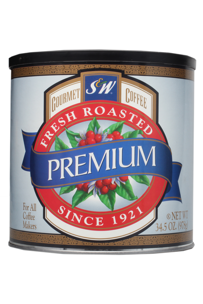 S&W Premium Blend Coffee (6/34.5 oz Case)