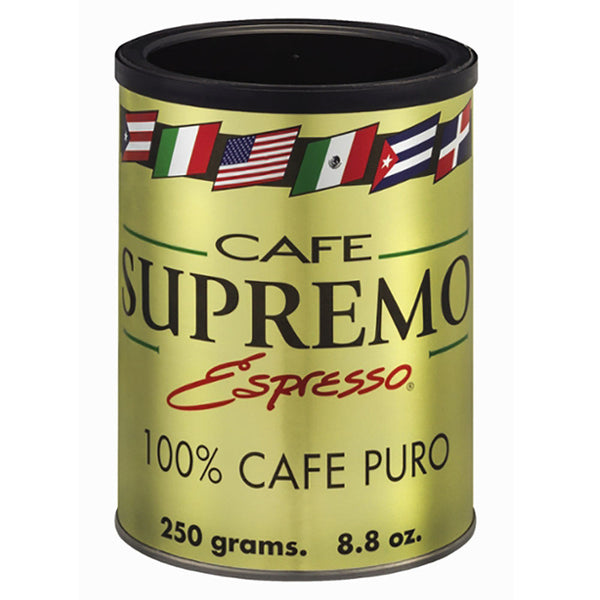 Café Supremo Coffee Can (12/8.8 oz Case)