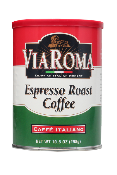 Via Roma Italian Espresso Coffee Can (12/10.5 oz Case)