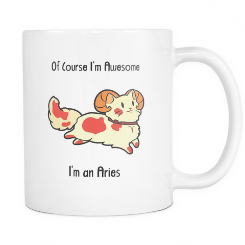 Aries Cat Zodiac - Mug