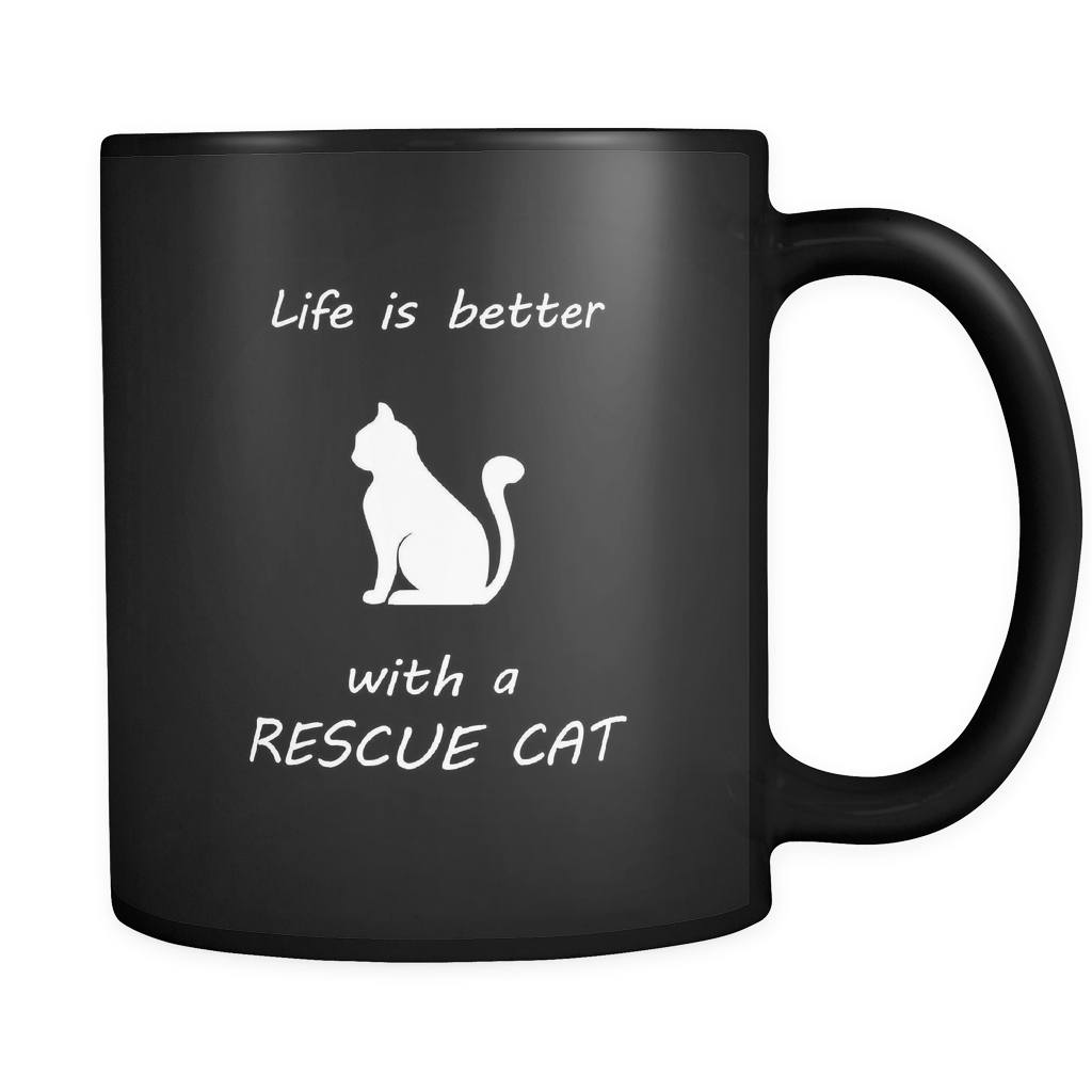 Drinkware - Life Is Better With A Rescue Cat - Mug