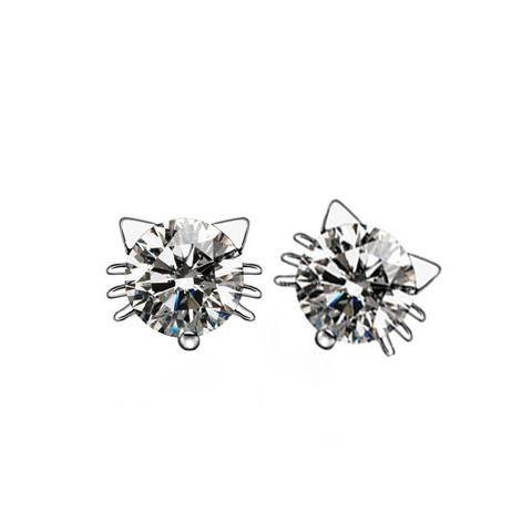 Earrings - Crystal Cat Earrings