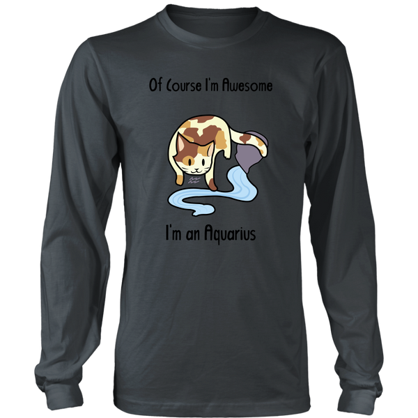 Aquarius Cat Zodiac - Unisex Long Sleeve