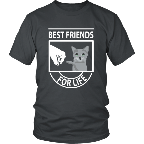 Best Friends For Life (Russian Blue) - Unisex Tee