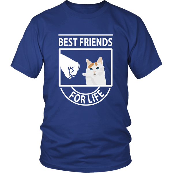 Best Friends For Life (Japanese Bobtail Blue Eyes) - Unisex Tee