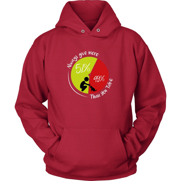 T-shirt - 51/49 - Always Give More - Hoodie