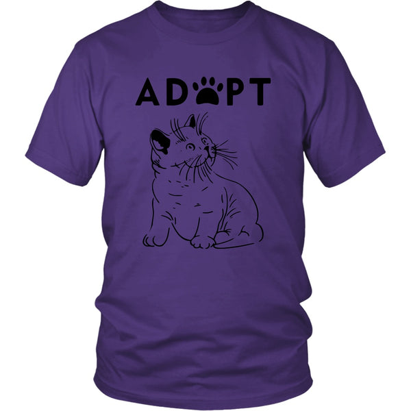 T-shirt - Adopt Kitty - Unisex Tee
