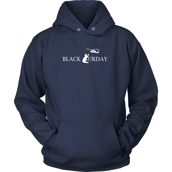 T-shirt - Black Caturday Helicopter - Hoodie