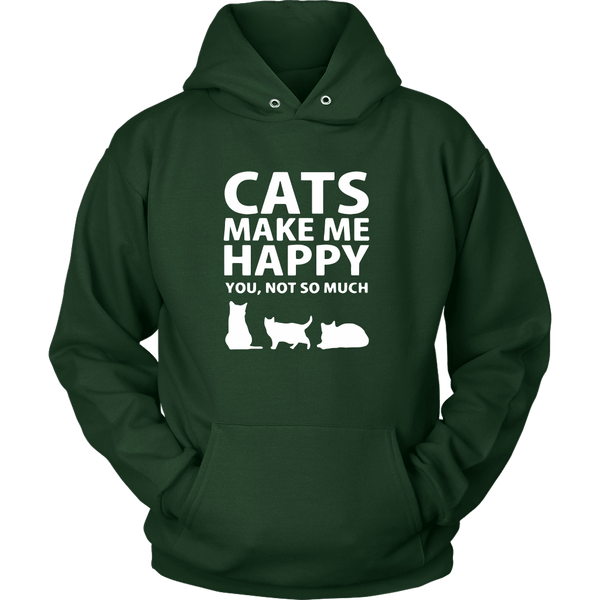 T-shirt - Cats Make Me Happy - Hoodie