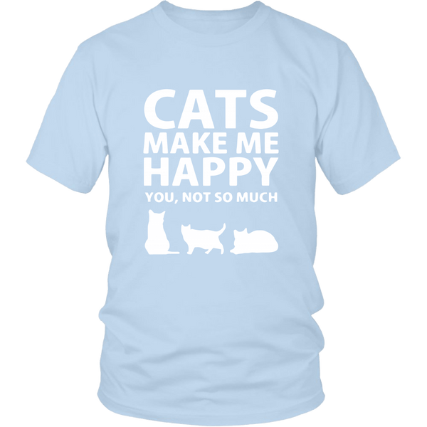 T-shirt - Cats Make Me Happy - Unisex Tee