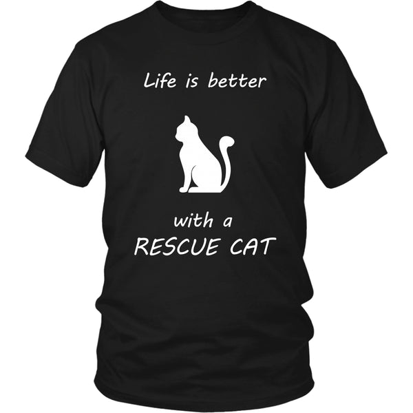 T-shirt - Life Is Better With A Rescue Cat - Unisex Tee