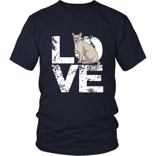 T-shirt - Love Siamese Cat - Unisex Tee