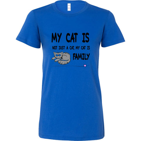 T-shirt - My Cat Is Family - Women's Crewneck