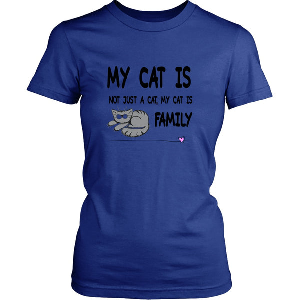 T-shirt - My Cat Is Family - Women's Fit