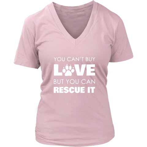 T-shirt - Rescue Love - Women's V-Neck
