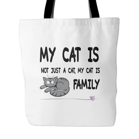 Tote Bags - My Cat Is Family - Tote Bag