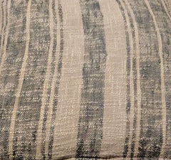 Beige/Charcoal Striped Pillow