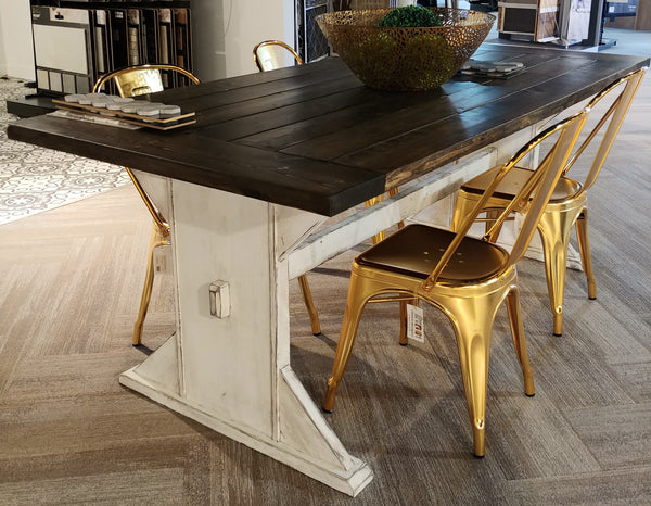 Two Tone Farmhouse Table
