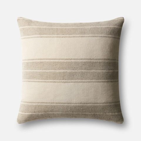 Magnolia Home Oversized Striped Khaki Pillow