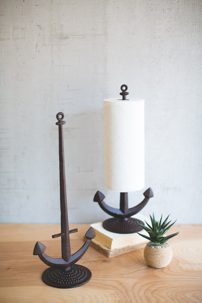 Cast Iron Anchor Paper Towel Holder