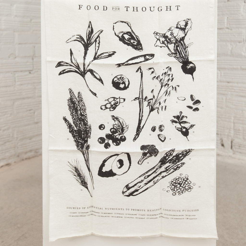"""Food For Thought"" Tea Towel"