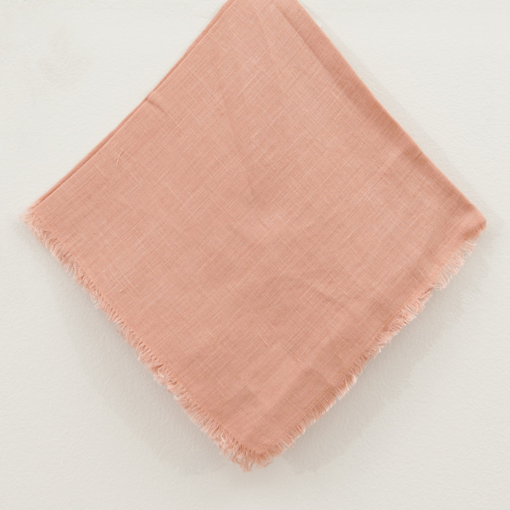 Square Salmon Napkins