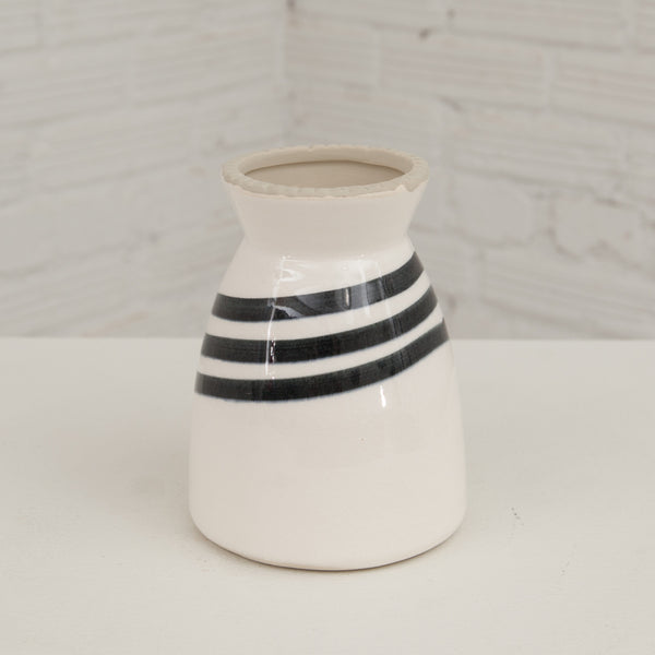 Diagonally Striped Vase