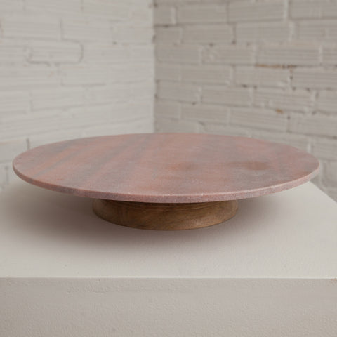 Pink Marble Lazy Susan