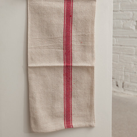 Red Striped Cotton Kitchen Towels