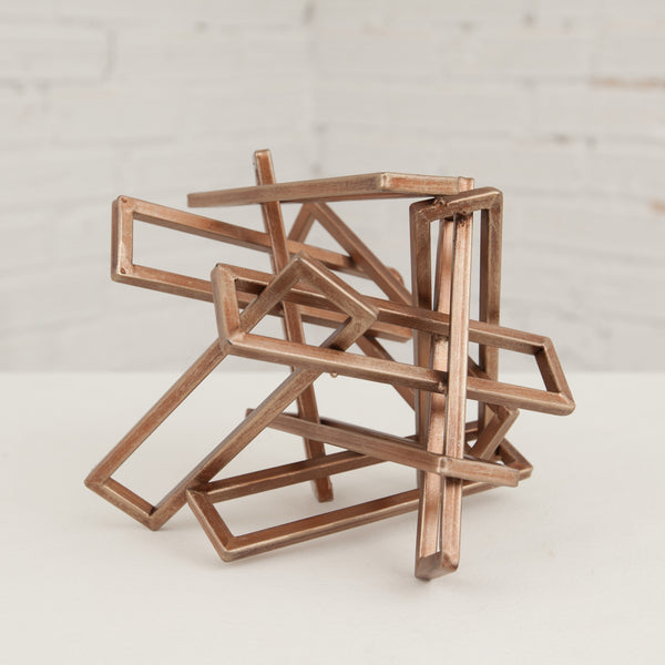 Small Tangled Rectangles Sculpture