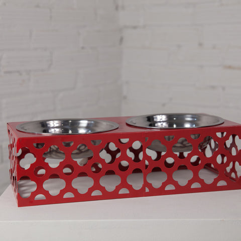 Double Metal Pet Feeder