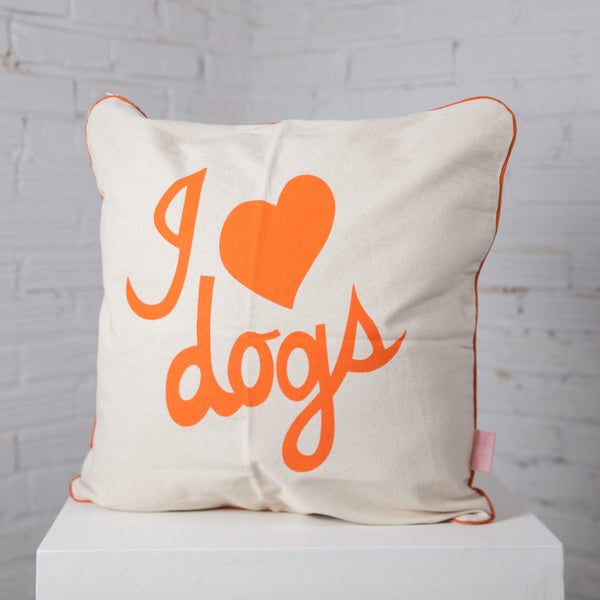 """I Heart Dogs"" Pillow"