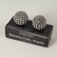 Decorative Silver Studded Knobs