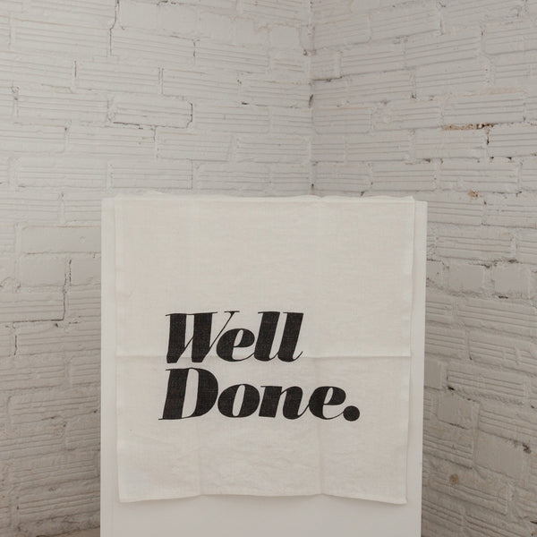 """Well Done"" Tea Towel"