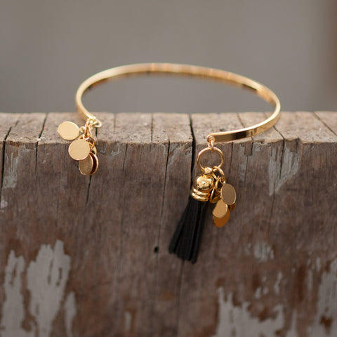 Aerin Cuff with Black Tassel
