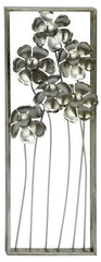 Flower & Stem Metal Wall Decor