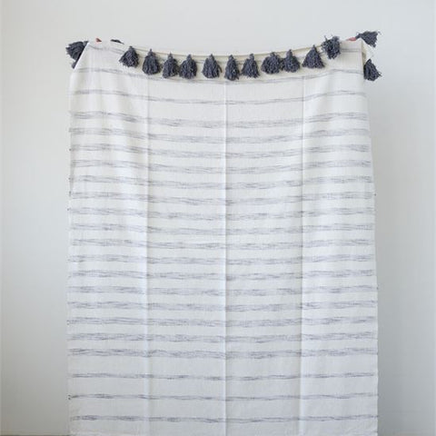 "Cotton Woven Striped Throw 60""x 50"""