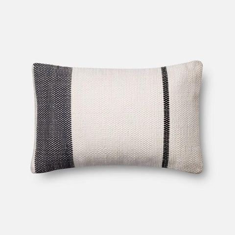 Magnolia Home Double Stripe Navy Kidney Pillow