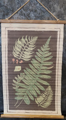 Fern Fronds Canvas Scroll