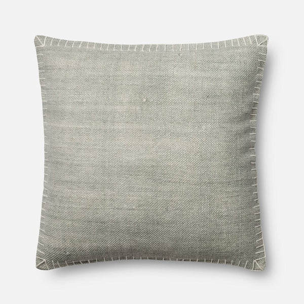 Magnolia Home Silver Border Stitched Pillow
