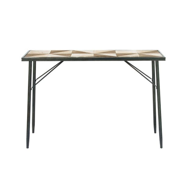 Two Tone Wood Console Table