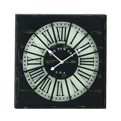 The New Era Wood Wall Clock