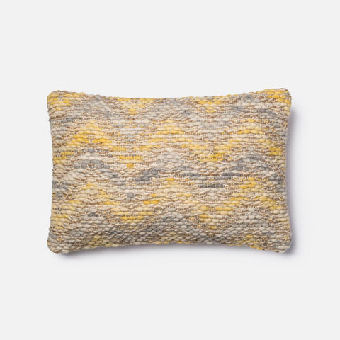 Magnolia Home Yellow Chevron Kidney Pillow