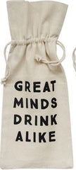Cotton Wine Bag With Saying